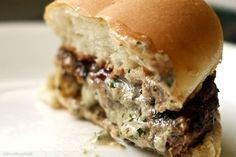 Stuffed Bleu-cheese burger because the best cheese makes for a great burger