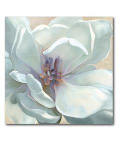 Look at this #zulilyfind! White Flower I Wrapped Canvas #zulilyfinds
