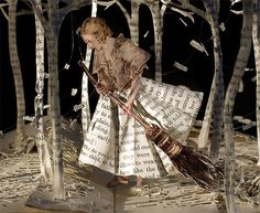 'The Girl in the Wood' by Su Blackwell paper art at the Courtauld Institute -- I think this is great