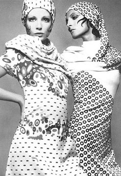 Models Barbara Miller and Mirelli Pettini photographed by Gian Paolo Barbieri for Vogue Italia 1969