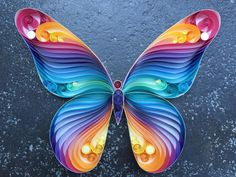 Quilled Paper Art: Spread Your Wings & Fly Butterfly by SenaRuna