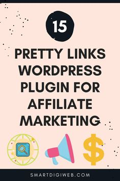 This video describes step by step how to install and use the Pretty Links WordPress plugin for affiliate marketing. Wordpress Plugins, Affiliate Marketing, Link, Pretty, Youtube, Youtubers, Youtube Movies