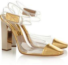shopstyle.com: Michael Kors PVC and leather pumps