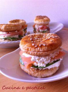 hamburger di pasta sfoglia