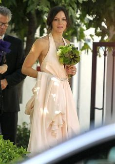 Katharine McPhee as the maid of honor for her sister Adrianna's wedding in Los Angeles on June 8, 2012.