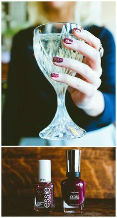 Berry glitter mani | Beauty Bets