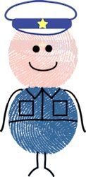 Try making a thumbprint policeman and other safety officers!