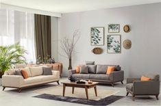 Living Room Sofa Design, Family Room Design, Home Room Design, House Design, Dream Furniture, Sofa Furniture, Furniture Design, Bedroom Seating, Sofa Set