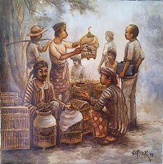 Lukisan Pelukis: Kusnanto Pasar Burung