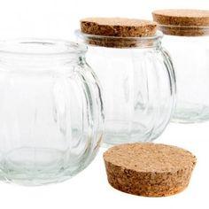 3db-os üveg tároló edény készlet