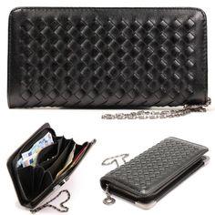 Original Urcover Frauen Geldbörse Geflochten Etui Portemonnaie Tasche für Kreditkarten und Bargeld etc. Schwarz 24,90€