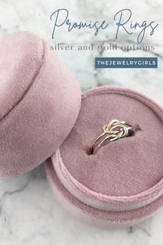 Silve and Gold options, double and single love knots - all hand tied and pulled by us in our studio made special for you! Beautiful Promise Rings, Promise Rings For Her, Gold Knot Ring, Gold Rings, Rings Pandora, Friendship Rings, Cheap Gifts, Birthstone Jewelry, Handmade Sterling Silver