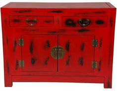 Chinese Cabinet.  Could get two of these and refinish in peacock blue high gloss.