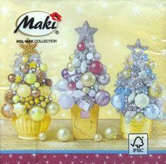 3576 Servilleta decorada Navidad
