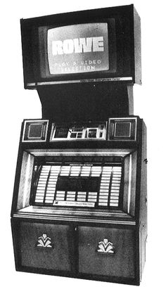 1984, Rowe-AMI's R-88 V/MEC: Music videos were licensed from CBS, Warner Bros., Geffen, Elektra, Capitol, and EMI, among others. [Jukebox Collector]