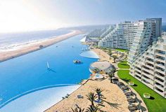 the world's largest pool. San Alfonso del Mar, Chile.