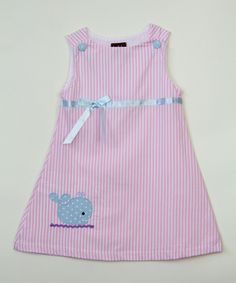 Love this Pink & Blue Whale Dress - Infant, Toddler & Girls by Lil Cactus on #zulily! #zulilyfinds
