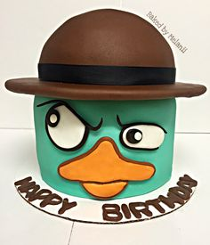 Perry the Platypus cake. Phineas and Ferb cake