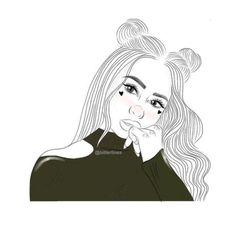 Cool Drawings Tumblr, Tumblr Sketches, Art Drawings Sketches Simple, Outline Drawings, Cartoon Drawings, Girl Drawings, Ft Tumblr, Tumblr Art, Tumblr Cartoon