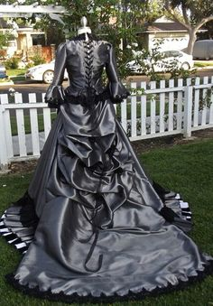 Gothic wedding gown custom mina victorian bustle gown 1 100 00