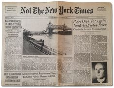 All the News Not Fit to Print via @ParisReview Hilarious retrospective of Plimpton/Cerf #NYTimes spoof #literary