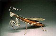 Praying Mantis...sterling silver, copper, gold---artist, Elizabeth Goluch --  beautiful!