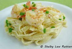 Linguine with Shrimp in Saffron Cream Sauce - Grumpy's Honey Bunch