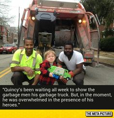 Everyone Has Its Own Heroes -  This is too adorable. What good guys to pose for the picture.
