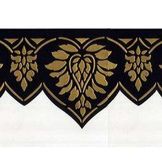 Wall Stencils | Oriental Brocade Frieze | Royal Design Studio
