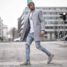 Autumn And Winter Fashion Pure Color Long Warm Coat – Men's style, accessories, mens fashion trends 2020 Winter Fashion Outfits, Fashion Night, Latest Fashion Clothes, Men Winter Fashion, Fashion Edgy, Fashion Vest, Color Fashion, Fashion Hair, Fashion Vintage