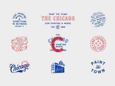 Vintage Graphic Design And you say Chi city! by Kenny Coil - Design elements for something coming soon to The Windy City. Badges, City Logo, Marca Personal, Badge Design, Poster S, Brand Packaging, Identity Design, Sticker Design, Graphic Design Inspiration