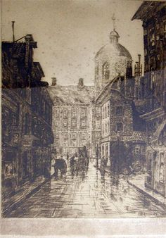 Eugenius Rensburg  dry point etching Drypoint Etching, Fallen London, A Level Art, Drawing Challenge, Art Studies, Printmaking, Cool Art, Louvre, Auction