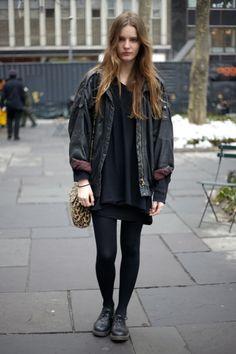Street Style New York – IMG Model Tilda Lindstam Pairs Doc Martens with Vintage | StyleCaster