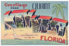 Quaint Key West, Florida post card