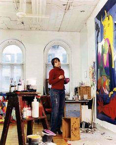 Sophie Matisse (Henri's great grandaughter) in her studio. Photo by Andrea Artz