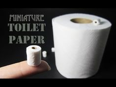 How To Make A Miniature Toilet Paper Roll - YouTube