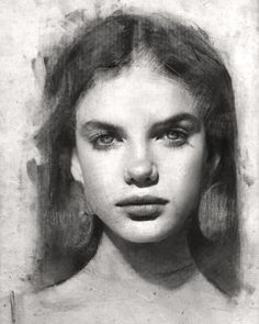 Tranquil and Serene. Charcoal and Graphite Portraits on Paper. Click the image, for more art by John Fenerov Portrait Sketches, Pencil Portrait, Portrait Art, Charcoal Sketch, Charcoal Art, Charcoal Drawings, Pencil Art Drawings, Art Drawings Sketches, Hipster Drawings