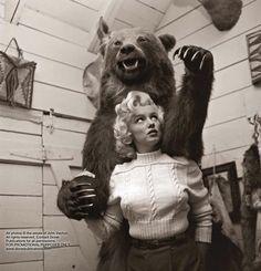 Marilyn and the bear: by John Vachon