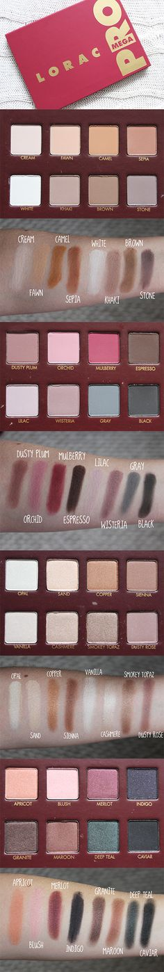 The Lorac Mega Pro Palette is quite simply beautiful. Read full review here: http://www.britishbeautyaddict.com/2014/12/lorac-mega-pro-palette.html
