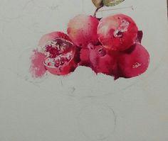 2017수업시연중에~~ : 네이버 블로그 Watercolor Fruit, Watercolor Paintings, Watercolors, Wet And Dry, Still Life, Vegetables, Illustration, Flowers, Inspiration