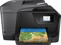 HP - Officejet Pro 8710 Wireless All-In-One Printer - Front Zoom