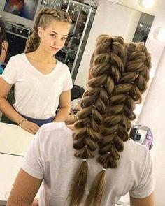 Braided hairstyles you should see - love hair- Geflochtene Frisuren, die Sie sehen sollten – Haare lieben Braided Hairstyles You Should See – – Braided Hairstyles You Should See French Fishtail Bridal Hairstyle – - Braided Hairstyles Tutorials, Box Braids Hairstyles, Bride Hairstyles, Cool Hairstyles, Hair Tutorials, Teenage Hairstyles, Hairstyle Ideas, Hairstyles 2018, Famous Hairstyles