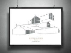 Archiposters Feature Minimalist Representations of Contemporary Architecture,VitraHaus / Herzog & De Meuron, 2010. Image © Francesco Ravasio