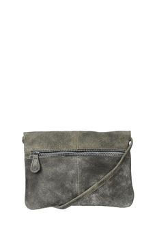 Leather bag - dust leather cross over bag - Brown