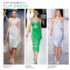 Spring / Summer 2014 trend - the slip dress - Okay, consider yourself warned. It's coming. Better get to the gym! :)