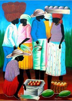 Cuadros Modernos Pinturas : Cuadros negras africanas en oleo y acrilico …