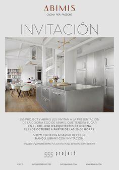 """Abimis sbarca in Spagna con il suo concetto di cucina """"taylor made"""". Il modello Ego sarà esposto fino al 9 novembre 2015 presso il Collegi d'Arquitectes de Girona"""