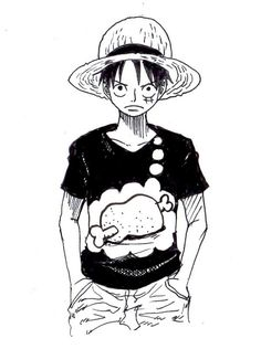 That must be Luffy`s Favourite shirt, he should actually wear that