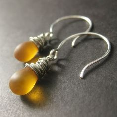 amber teardrop earrings