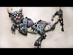 "▶ Polymer Clay Alice Madness Returns "" Cheshire Cat "" Necklace Tutorial by Alina Sanina"